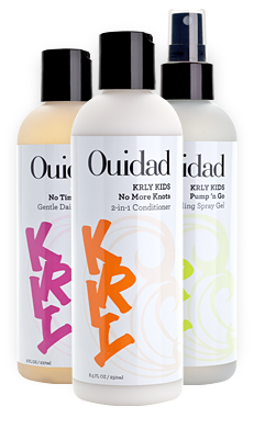 Ouidad KRLY Kids Easy Curls Shampoo, Conditioner and Styling Gel for Kids with Curly Hair